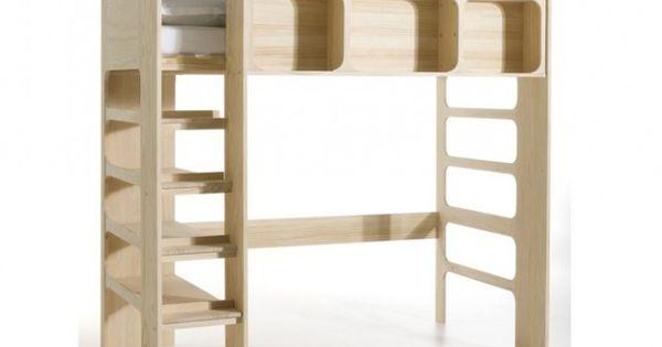 lit mezzanine ampm chambre z lie pinterest lieux d co et mezzanine. Black Bedroom Furniture Sets. Home Design Ideas