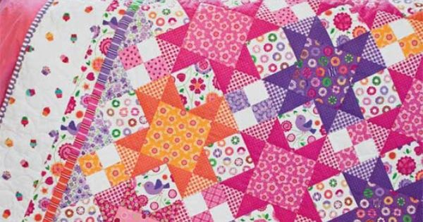 Brighten up with the Sew Sweet Quilt Kit featuring Sweet Things by