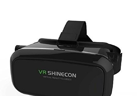 7e4a1337d8f CSMARTE 3D VR Glasses Virtual Reality Box for iPhone 6 6S iPhone6 Plus  Samsung LG Sony HTC ZTE and 3.5-6 inch Smartphone for 3D Movies and  Games-Bl… ...