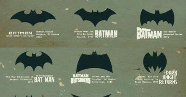 Evolution of Batman comic book logos