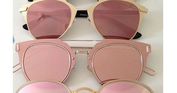 Sunnies ! Rose Gold and Rose / Soft Pink lenses - all