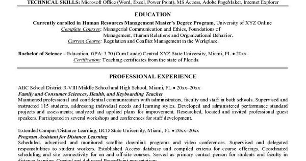 education resume examples high school they said so because