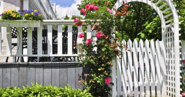 6 Easy Outdoor Paint Projects To Give Your Home A Diy Facelift Garden Doors Outdoor Paint House Fence Design