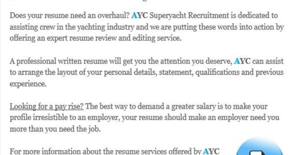 AYC resume review and editing service wwwaycau\/resume - resume review service