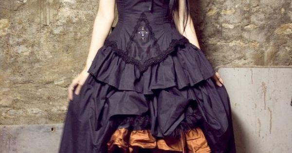 Beautiful Gothic Steampunk Wedding Dress | Handmade Victorian, Steampunk, Gothic Wedding Dresses