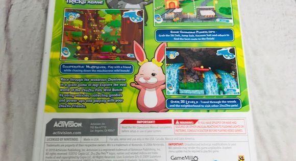 Zhu Zhu Pets Featuring The Wild Bunch Wii Game The Wild Bunch Wii Games Wii