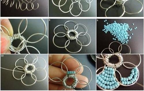 DIY bead flower jewelry