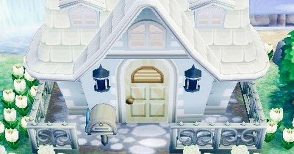 Acnl wundersch nes haus von aussen mit wei en blumen for Modern house acnl