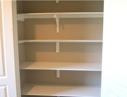 How to install shelving in a closet. Could be really helpful in