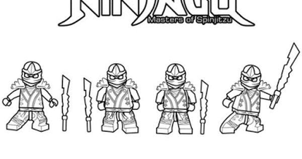 Aneka Gambar Mewarnai Gambar Mewarnai Ninjago Untuk Anak Paud