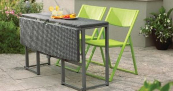 Umbra loft collection woven folding patio table canadian for Canadian tire table pliante