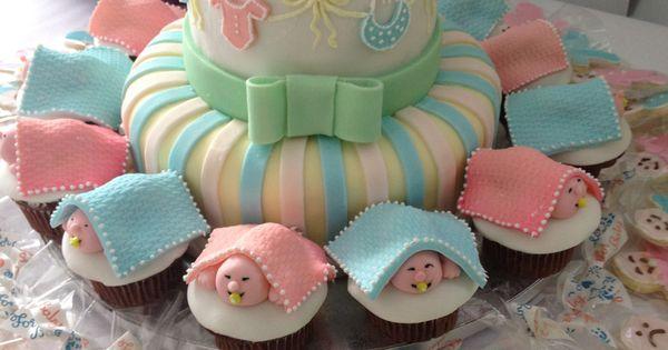Cake With Cupcakes Goldilocks : Baby Shower, Cake & Cupcakes - Goldilocks bakery Party ...