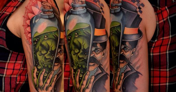 dr jekyll and mr hyde had so much fun with this piece mark prata tattoos pinterest tattoo. Black Bedroom Furniture Sets. Home Design Ideas