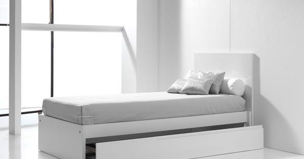 Camas juveniles blancas y modernas para ni os con cama nido para visitas inesperadas nursery - Camas blancas juveniles ...