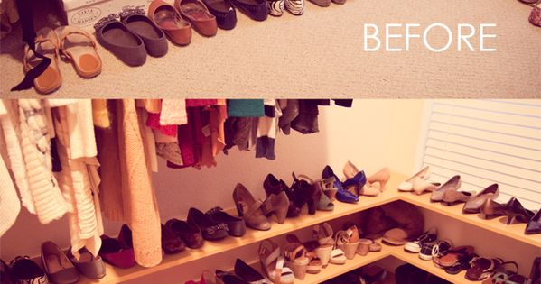 DIY shoe rack for 50 pairs of shoes!