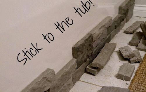 For master bathroom! *How To Hide Ugly Built-In Tubs With Faux Stone