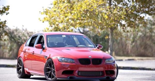 Bmw E90 M3 Vt2 Red Supercharged On Morr Wheels Bmw Bmw Love Car Engine