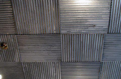 Corrugated Metal Ceiling In Bedroom Bedroom Modern