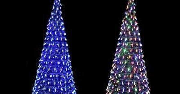 6 Ft Pre Lit Led Tree Sculpture With Star And Color Changing Blue To Multi Color Ligh Tree Sculpture Outdoor Christmas Lights Decorating With Christmas Lights