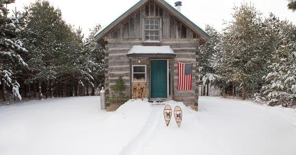 Winter Cabin Flag
