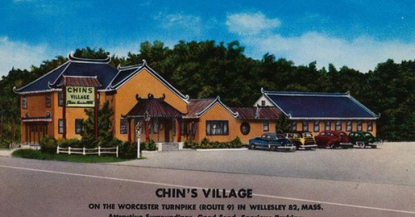 Chin S Village Wellesley Massachusetts Village Googie Coolidge Corner