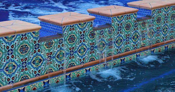 Cool Pool Tile Spanish Spanish Style And Backyard