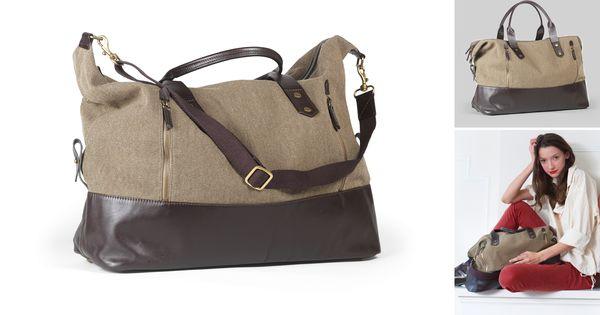 Canvas Leather Jones Duffel by Eayrslee Wonderul, classic bag!