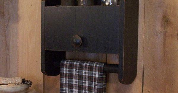 16 Epic Bathroom Storage Ideas: Primitive Cabinet Towel Rack Spice Cabinet For Kitchen
