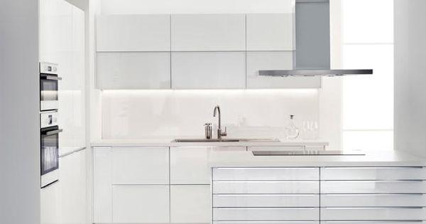METOD/RINGHULT/MAXIMERA Einbauküche in Hochglanz weiß | Küchen ... | {Ikea küchen metod 45}