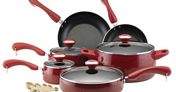 have a big paula dean pot and i love it paula deen 15 piece non stick cookware sets at big lots. Black Bedroom Furniture Sets. Home Design Ideas