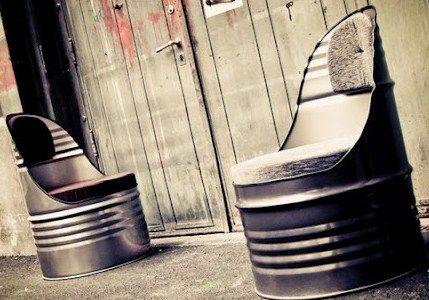 comment recycler de vieux bidons en fer diy pinterest comment recycler bidon et vieux. Black Bedroom Furniture Sets. Home Design Ideas