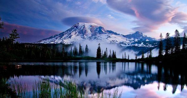 Mt. Rainier National Park, Washington State. AAhhhh I've been sledding on this