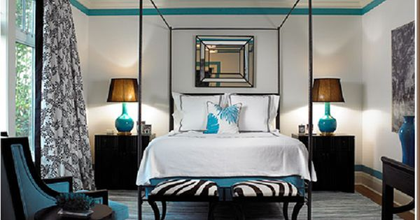 Best Black Cream And Turquoise Bedroom Love The Zebra X 400 x 300