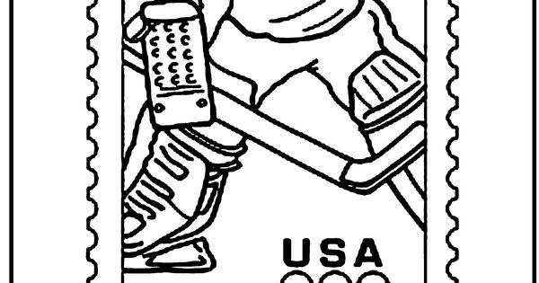 olympic hockey coloring page