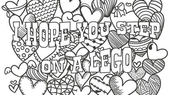 Cute Insult Calming Coloring Page With Ornaments By