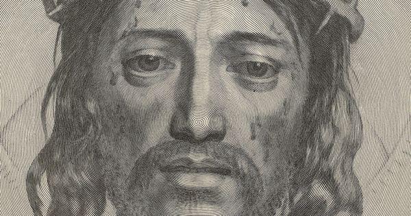 Line Drawing Of Jesus Face : Claude mellan sudarium of saint veronica engraving by