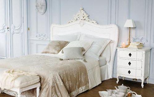 Bed headboard maison du monde t te de lit 160 cm comtesse romantique pin - Tete de lit maison du monde 160 ...