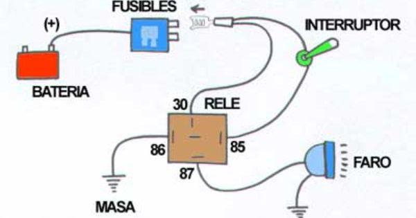 Conexion De Faros Auxiliares Curso De Mecanica Automotriz Instalacion Electrica Audio De Automoviles