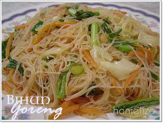 Resep Bihun Goreng Sederhana Resep Masakan Resep Makanan Cina Masakan