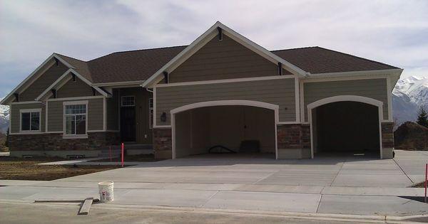 Exterior Paint Color Combinations With Dark Garage Doors