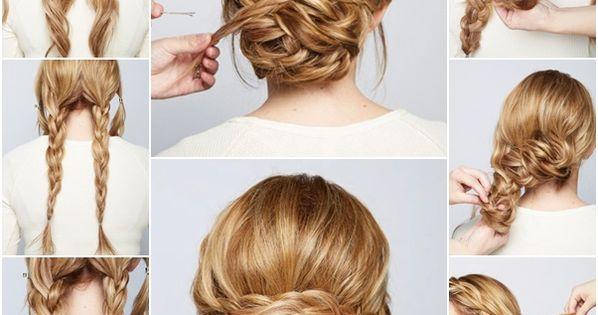 Fancy braided chignon