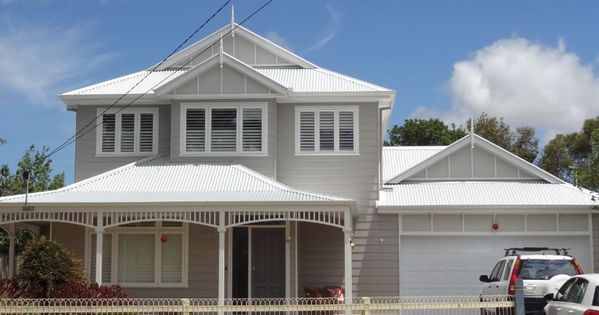 Surfmist colorbond roof with light greige walls weatherboard exterior pinterest surf for Colorbond colour schemes exterior