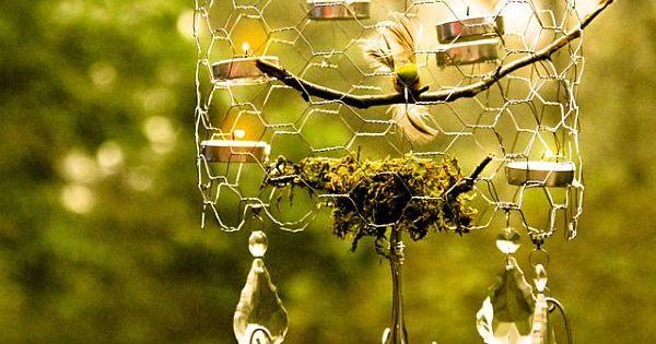 Chicken wire chandelier garden ideas pinterest chicken wire chandeliers and diy ideas - Wire chandelier diy ...