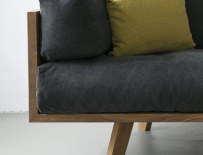 nutsandwoods oak linen sofa home pinterest m bel wohnzimmer und wohnen. Black Bedroom Furniture Sets. Home Design Ideas