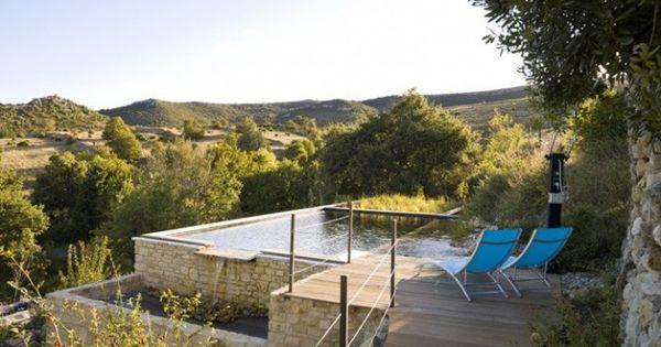 Piscine naturelle terrasses veranda pinterest piscines naturelles piscines et bassin naturel - Piscine bassin naturel tours ...