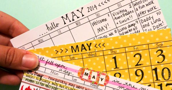 Project Life Calendar Printables (I really like the overview card in the