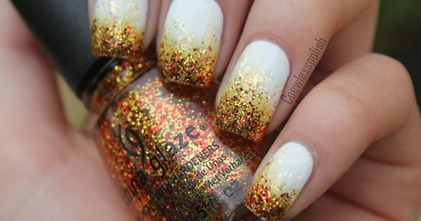 Gold Glitter Nail Polish Nail Art Gallery