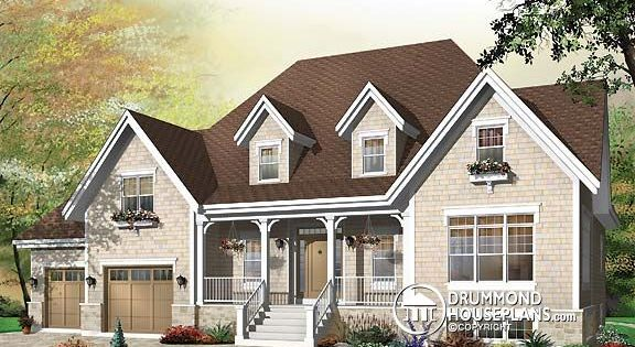 House plan w3434 covered front balcony and rear covered balcony which is also screened in nice - Houses with covered balconies ...