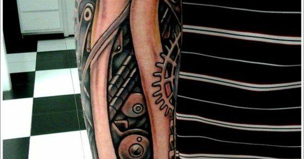 biomechanik tattoo unterarm tattoos tattoo pinterest. Black Bedroom Furniture Sets. Home Design Ideas