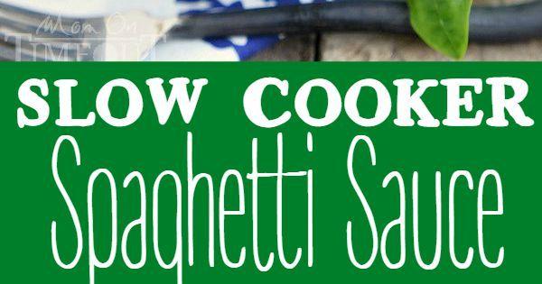 Slow Cooker Spaghetti Sauce   Recipe   Slow Cooker Spaghetti Sauce ...